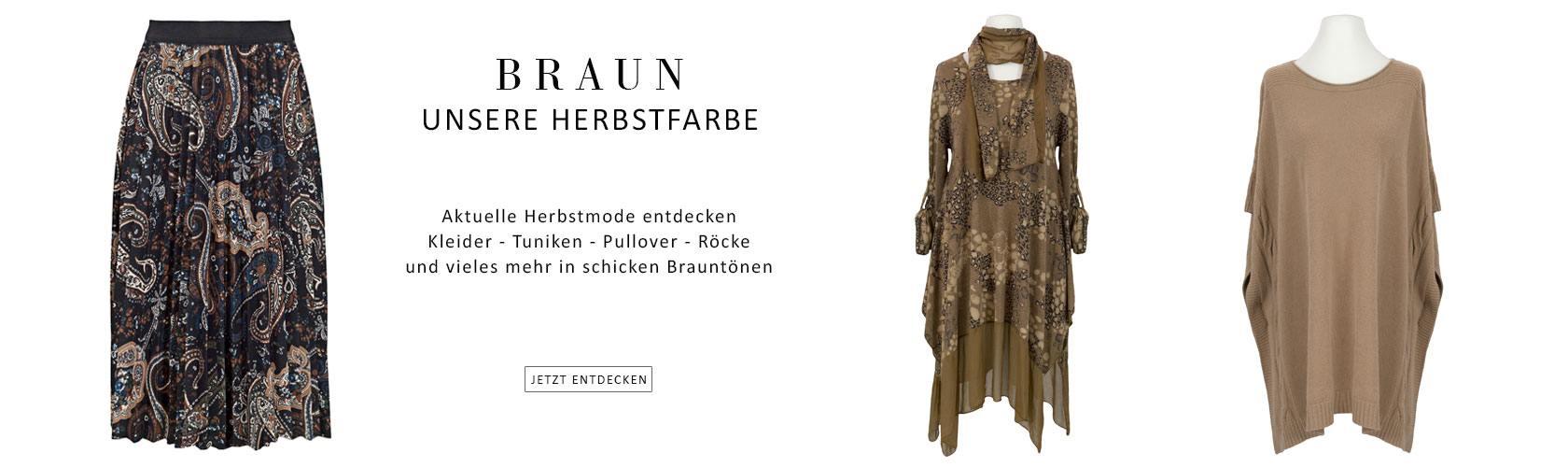 Mode in Herbstfarben braun - Italienische Damenmode