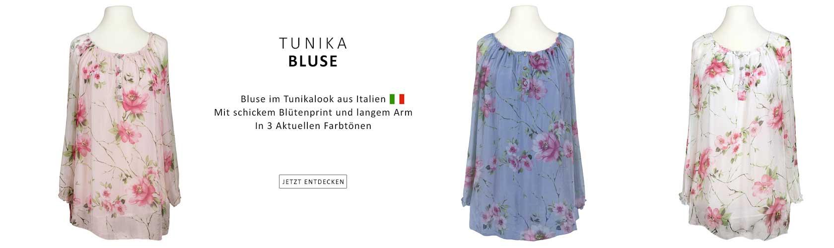 Tunika Bluse aus Italien