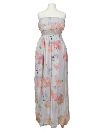 Bandeau Kleid mit Seide, grau