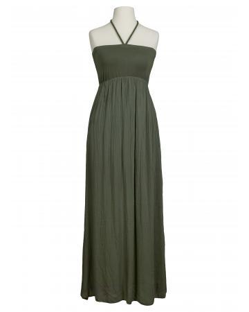 Bandeau Kleid mit Seide, oliv