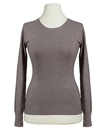 Basic Pullover, braun (Bild 1)