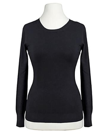 Basic Pullover, schwarz