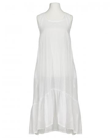 Baumwoll Kleid, weiss