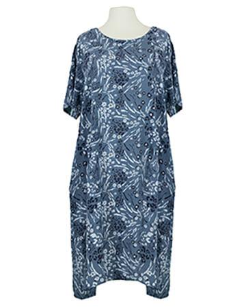 Baumwollkleid Floral, blau