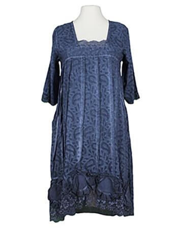 Baumwollkleid mit Spitze, blau (Bild 1)