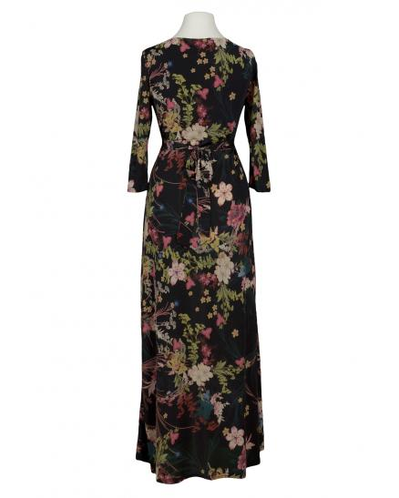 Blumen Maxikleid Wickeloptik, multicolor