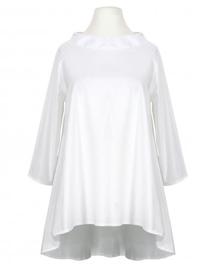 Bluse A-Linie, weiss