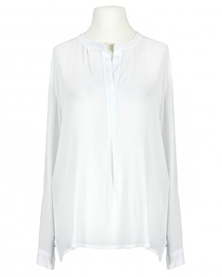 Bluse Crepe Georgette, weiss