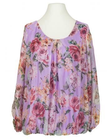 Bluse Floral mit Seide, flieder