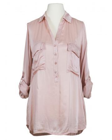 Bluse mit Satin, rosa