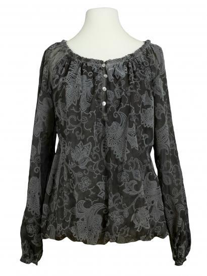 Bluse Paisley Muster, anthrazit