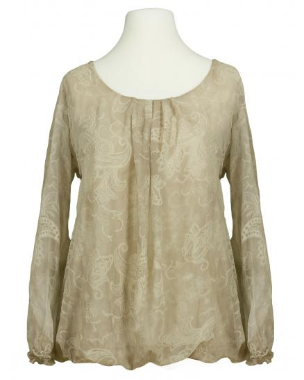 Bluse Paisley Muster, beige (Bild 1)