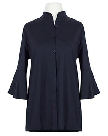 Bluse Stehkragen, dunkelblau
