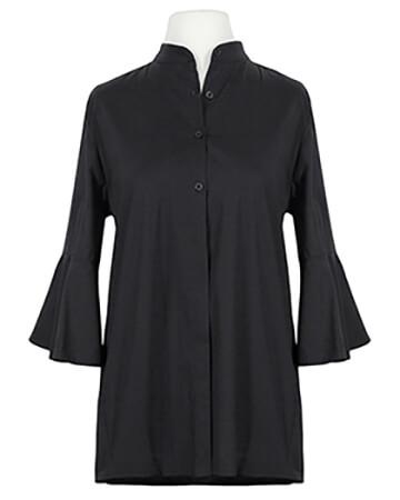 Bluse Stehkragen, schwarz