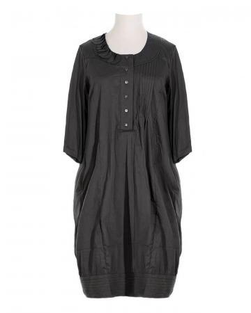 Blusenkleid mit Seide, schwarz