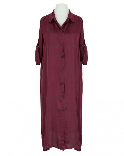 Blusenkleid Satin, bordeaux