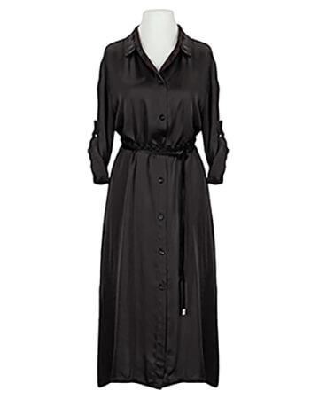 Blusenkleid Satin, schwarz