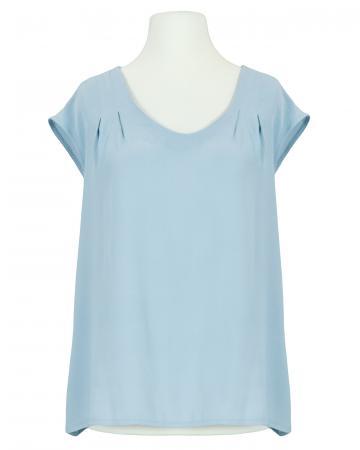 Blusenshirt Crepe Georgette, hellblau