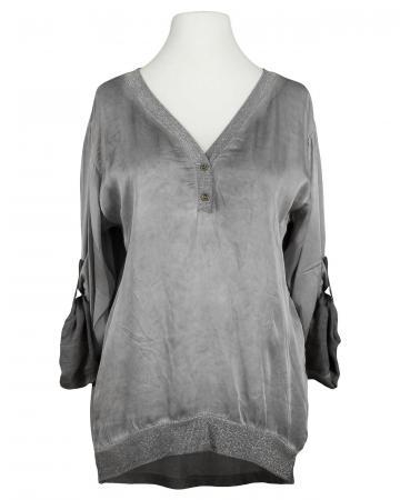 Blusenshirt mit Glitzergarn, grau