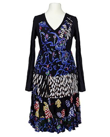 Kleid mit Chiffon, multicolor (Bild 1)