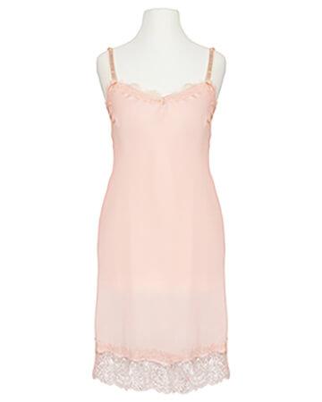Chiffon Long Top mit Spitze, rosa
