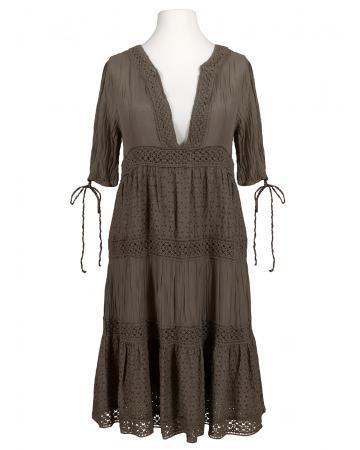 Empire Kleid mit Seide, braun