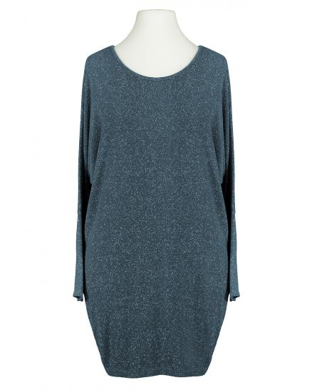 Long Shirt Lurex, blau (Bild 1)