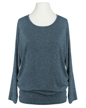 Long Shirt Lurex, blau