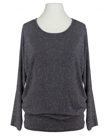 Long Shirt Lurex, grau