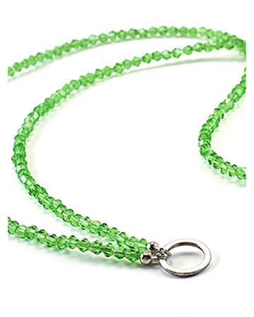 Grundkette Glasperlen für Charms, grün