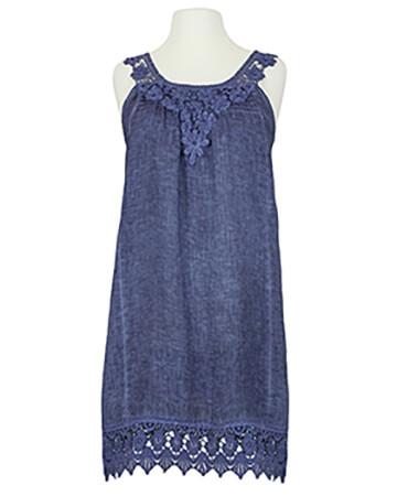 Hängerchen Kleid mit Spitze, blau