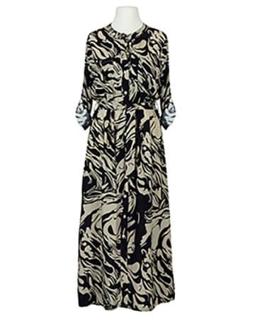 Hemdblusenkleid Print, schwarz