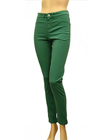 Hose Baumwoll Stretch, grün