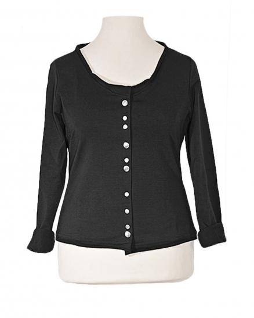 Jersey Jacke, schwarz (Bild 1)