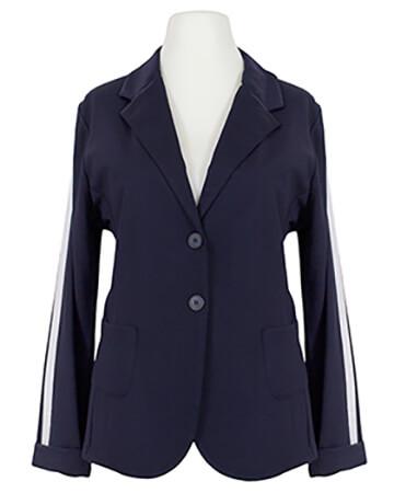 Jersey Blazer Streifen, blau