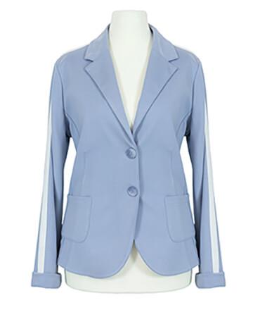 Jersey Blazer Streifen, hellblau