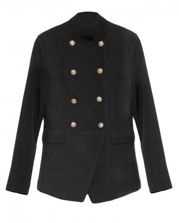 Jersey Blazer Uniform Stil, schwarz