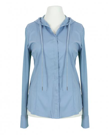 Jersey Bluse mit Kapuze, eisblau (Bild 1)
