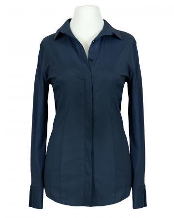 Jersey Hemdbluse, dunkelblau