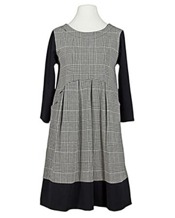 Jersey Kleid kariert, schwarz