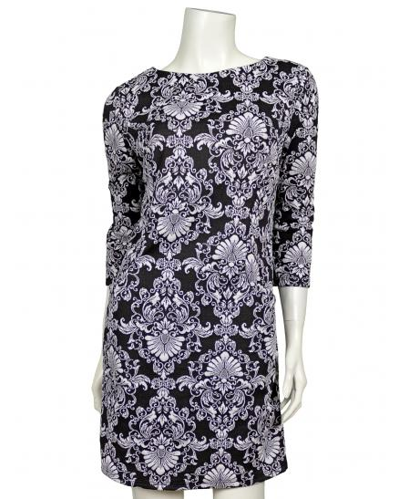 Jersey Tunika Kleid, schwarz weiss