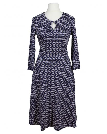 Jerseykleid, blau taupe