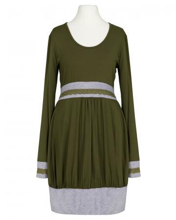 Jerseykleid Ballonform, oliv (Bild 1)