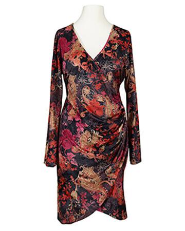 Jerseykleid Wickeloptik, multicolor