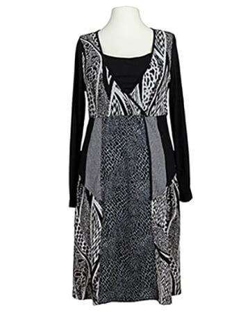 Jerseykleid mit Muster, schwarz (Bild 1)