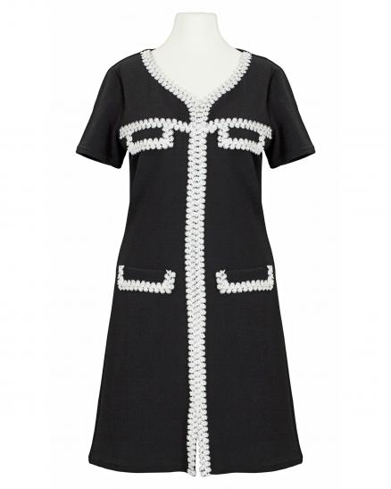 Jerseykleid, schwarz