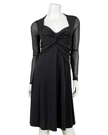 Jerseykleid Wickeloptik, schwarz (Bild 1)