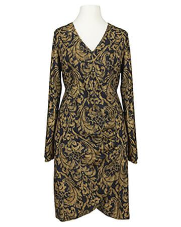 Jerseykleid Wickeloptik, schwarz