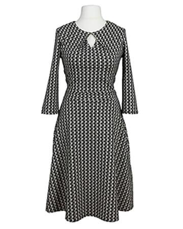 Jerseykleid, schwarz grau