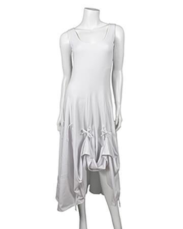 Jerseykleid A-Form, weiss